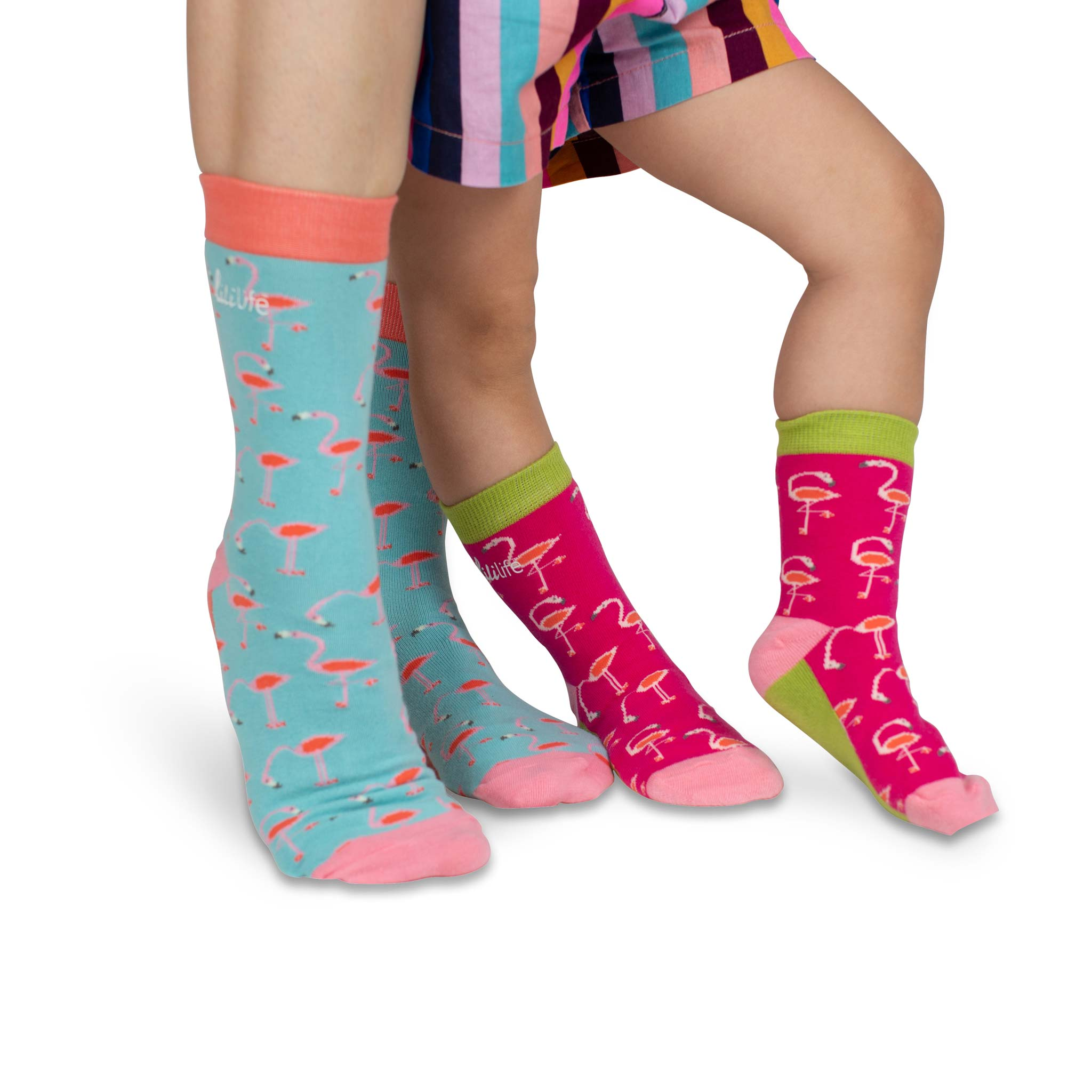 Papa & Me Socks | Flamingo