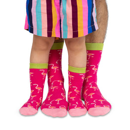 Mama & Me Socks | Bright Flamingo