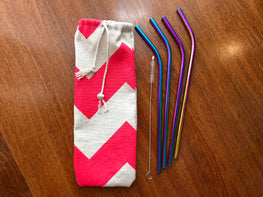 liliLife Iridescent Stainless Steel Straws