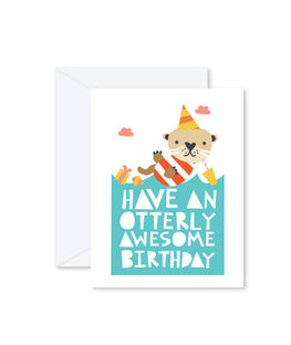 GREETING CARD | Have An Otterly Awesome Birthday