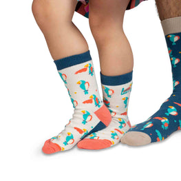 Kids Crew Socks | Parrots - Light