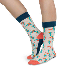 H 'n' H - Light Parrot Socks