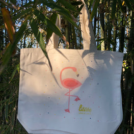 liliLife® Flamingo Tote Shopper Bags