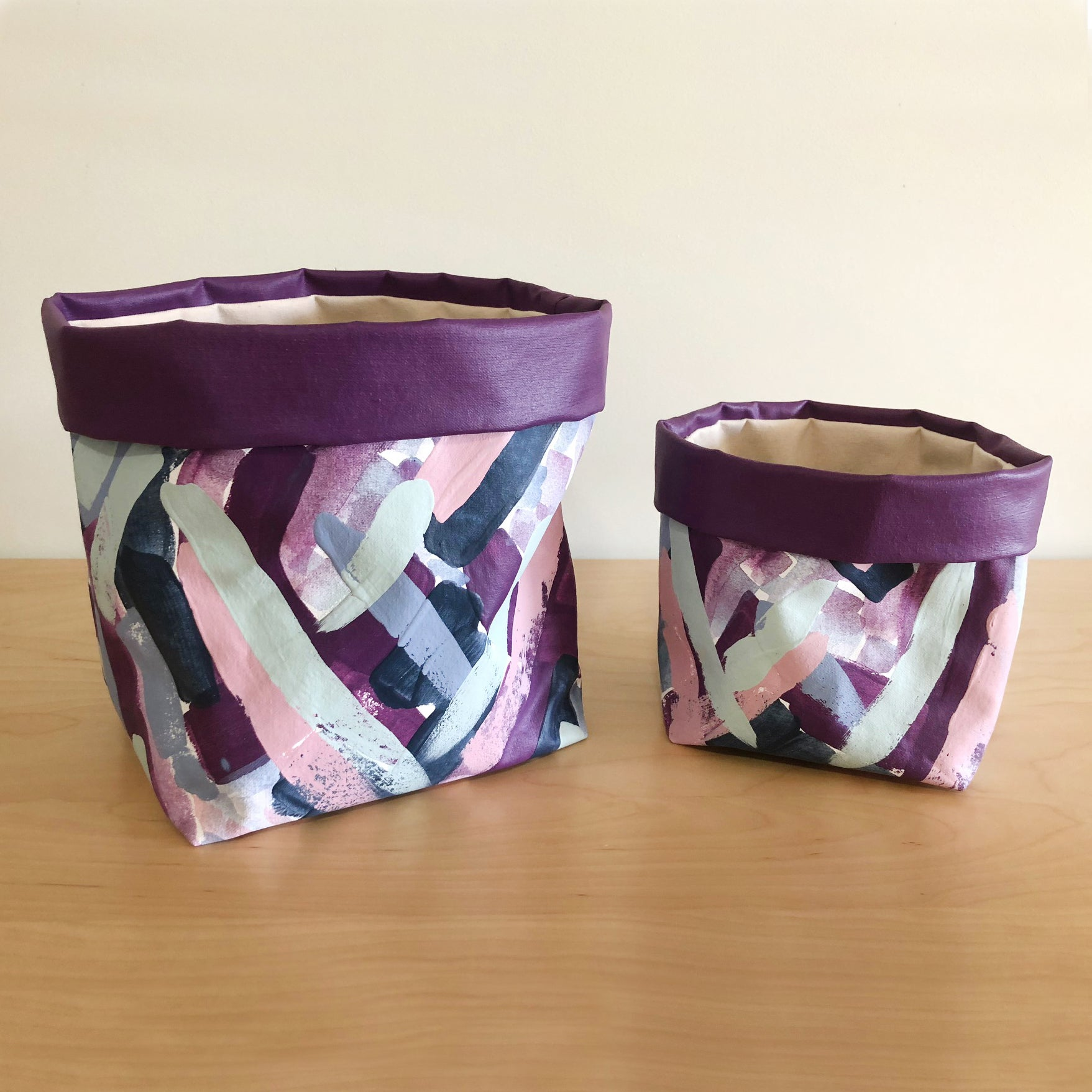 McKenzie House - hand-painted bags {set of two}