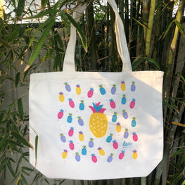 liliLife® Yellow Pineapple Tote Shopper Bags
