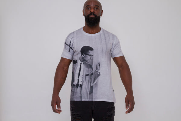 Malcolm x (by any means) short sleeve T-shirt