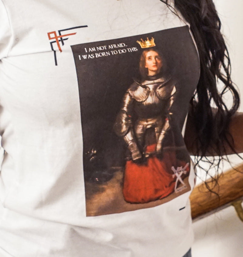 Joan of arc slogan T-shirt