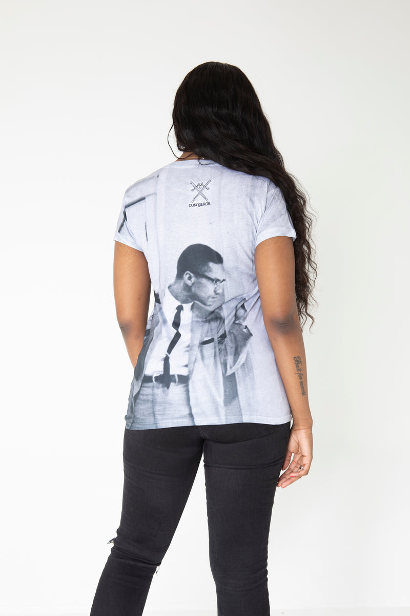 Malcolm x womens T-shirt
