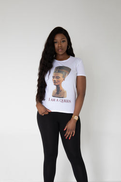 """I am A Queen"" slogan T-shirt"