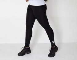 Black leggings with Conqueror Logo