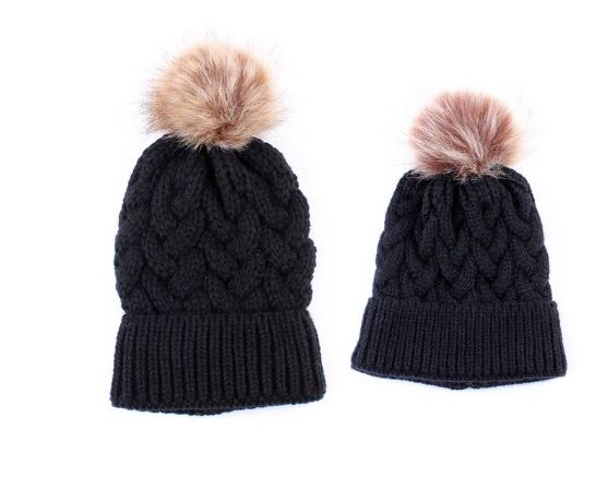 Emery | MOMMY AND ME Fur Beanie