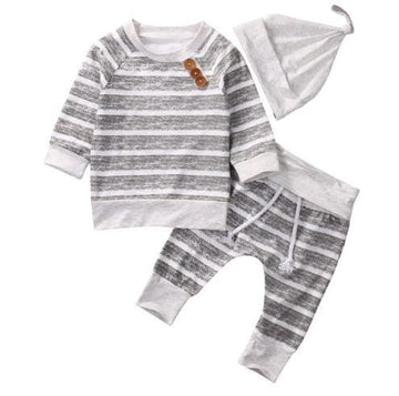 Striped and Buttons Baby Outfit - Chinguli's Creations
