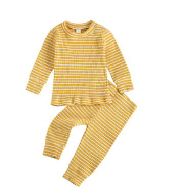 Andy | Ribbed top and bottom - Yellow
