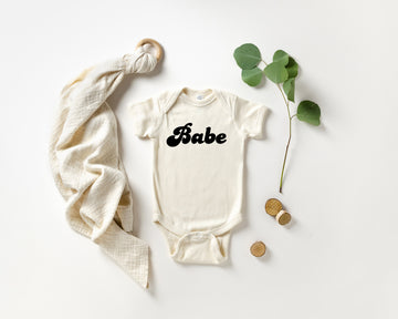 Babe | Baby Announcement Bodysuit