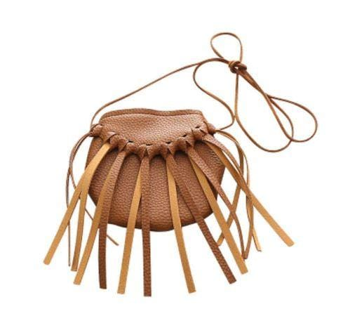 Tassel Leather Purse - Chinguli's Creations
