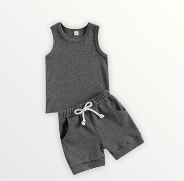 Frankie | 2 Piece Set - Charcoal