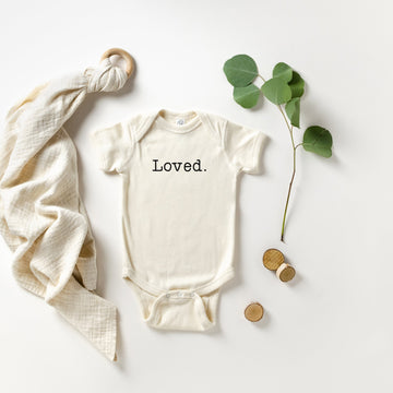 Loved. | Baby Announcement Bodysuit