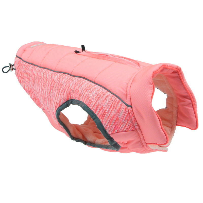Picture of Daybreak Jacket in Color Bright Coral by Pup Crew Pro for Mission Pets, from Jacket