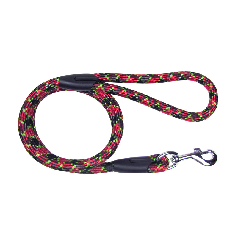 Picture of SimplyWag Nylon Rope Leash in Color Red/Green Mosaic by SimplyWag for Mission Pets, from Leash