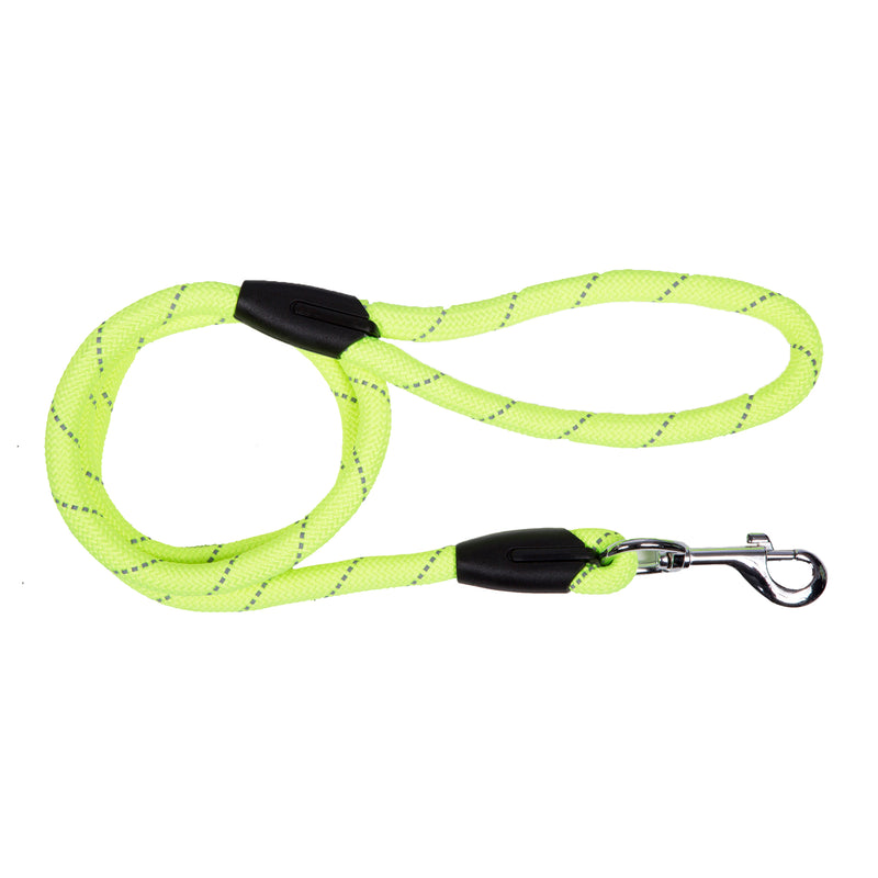 Picture of SimplyWag Nylon Rope Leash in Color Neon Yellow Reflective by SimplyWag for Mission Pets, from Leash