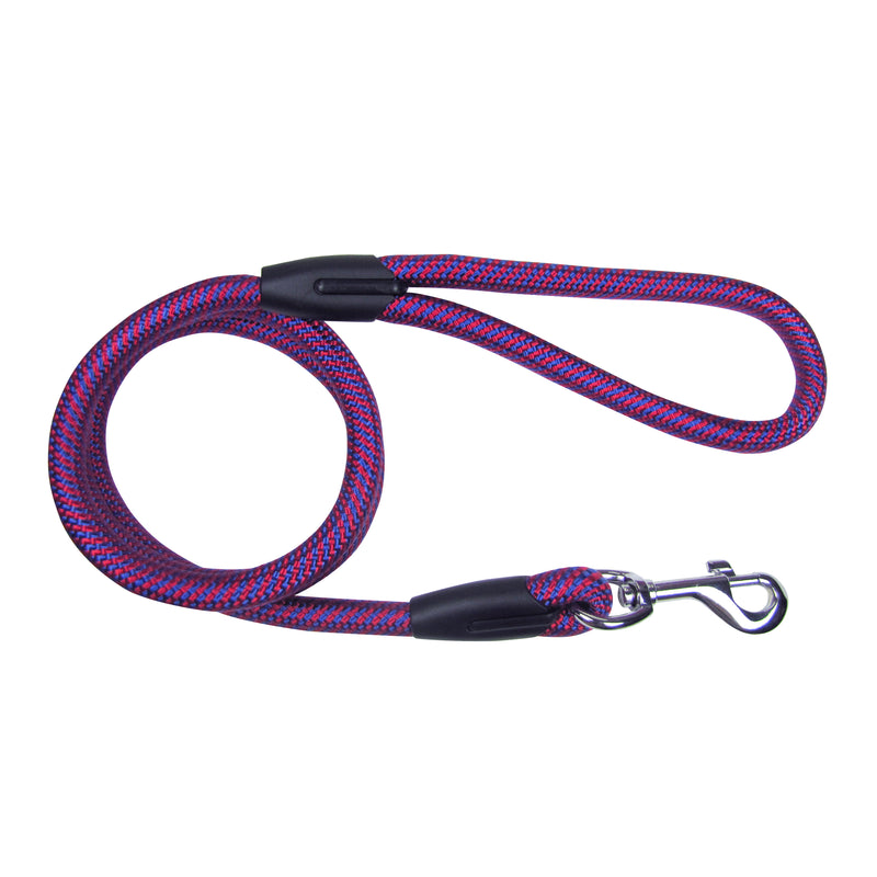 Picture of SimplyWag Nylon Rope Leash in Color Red/Blue Two Tone by SimplyWag for Mission Pets, from Leash