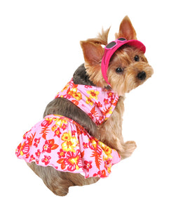 SimplyDog Hawaiian Dog Swimming Suit and Hat Set