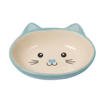 Ceramic Cat-Faced Cat Bowl