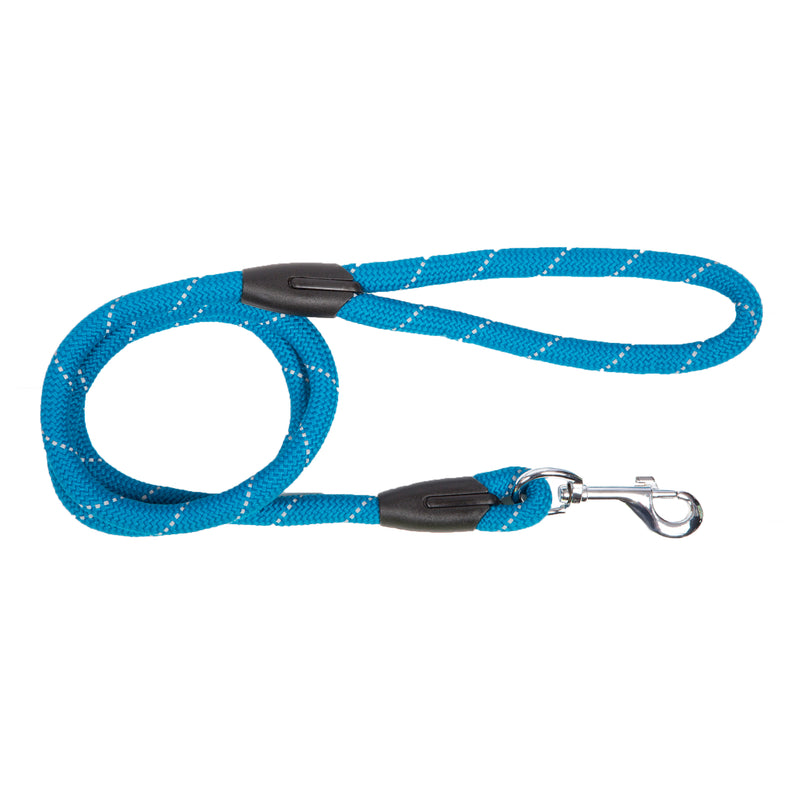 Picture of SimplyWag Nylon Rope Leash in Color Celestial Blue Reflective by SimplyWag for Mission Pets, from Leash