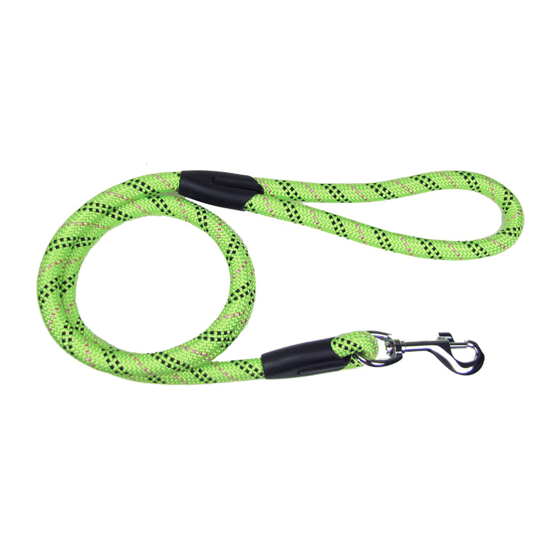 Picture of SimplyWag Nylon Rope Leash in Color Neon Yellow Multi-Stripe by SimplyWag for Mission Pets, from Leash