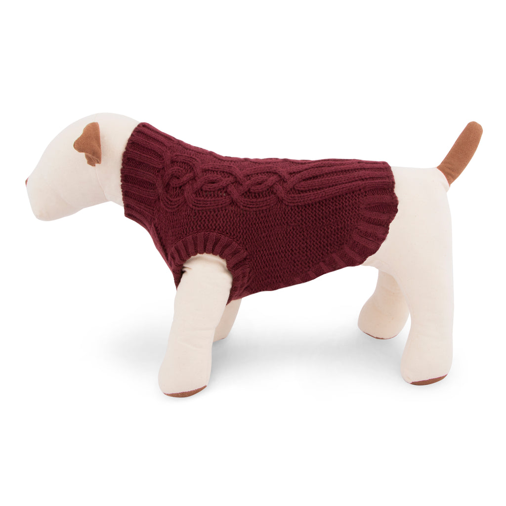 Cable Knit Ribbed Dog Sweater