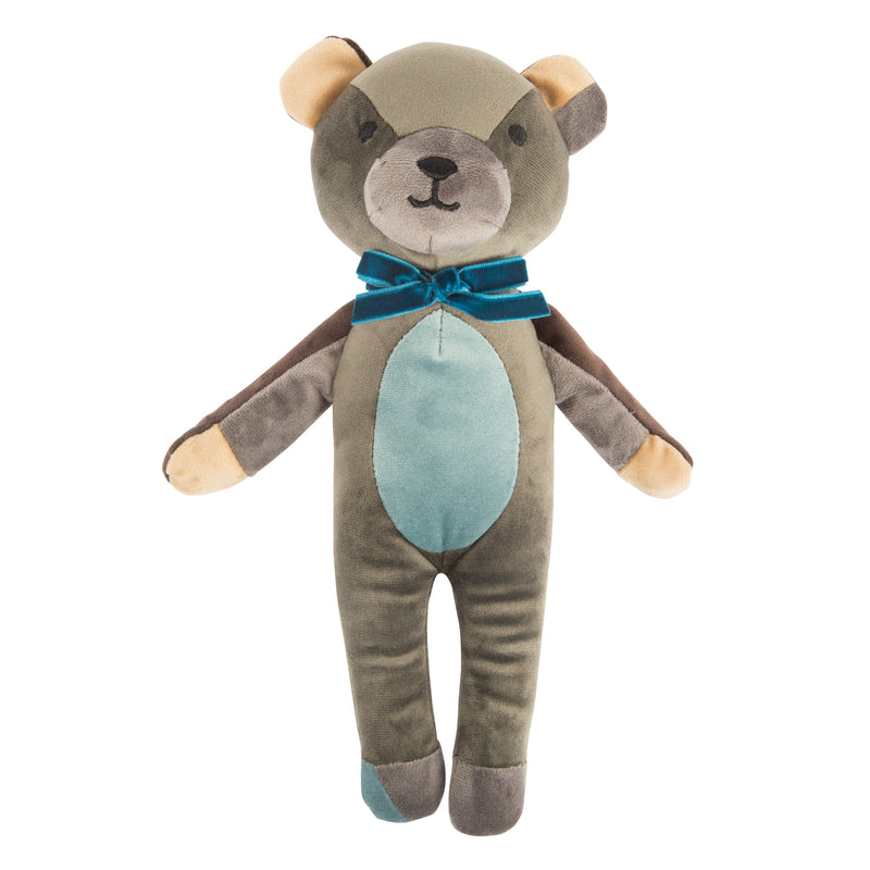 Patchwork Bear Plush Dog Toy