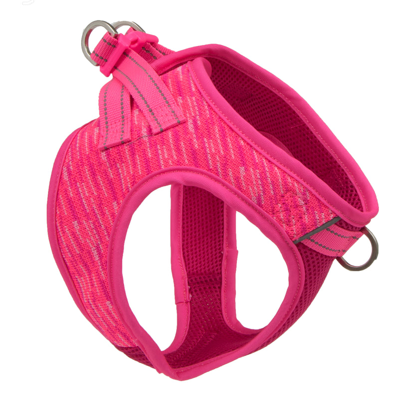 Picture of Flex Knit™ Vest Harness in Color Blaze Pink by Pup Crew Pro for Mission Pets, from Harness