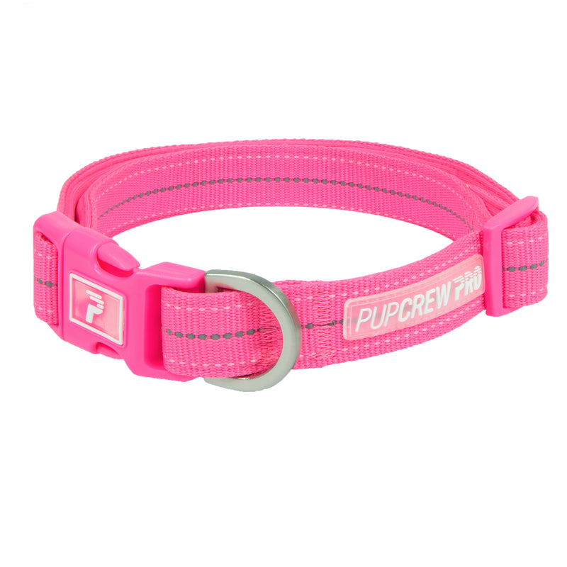 Picture of Pathfinder Collar in Color Blaze Pink by Pup Crew Pro for Mission Pets, from Collar