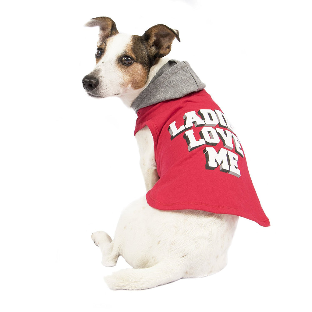 "SimplyWag ""Ladies Love Me"" Graphic Print Dog Hoodie"