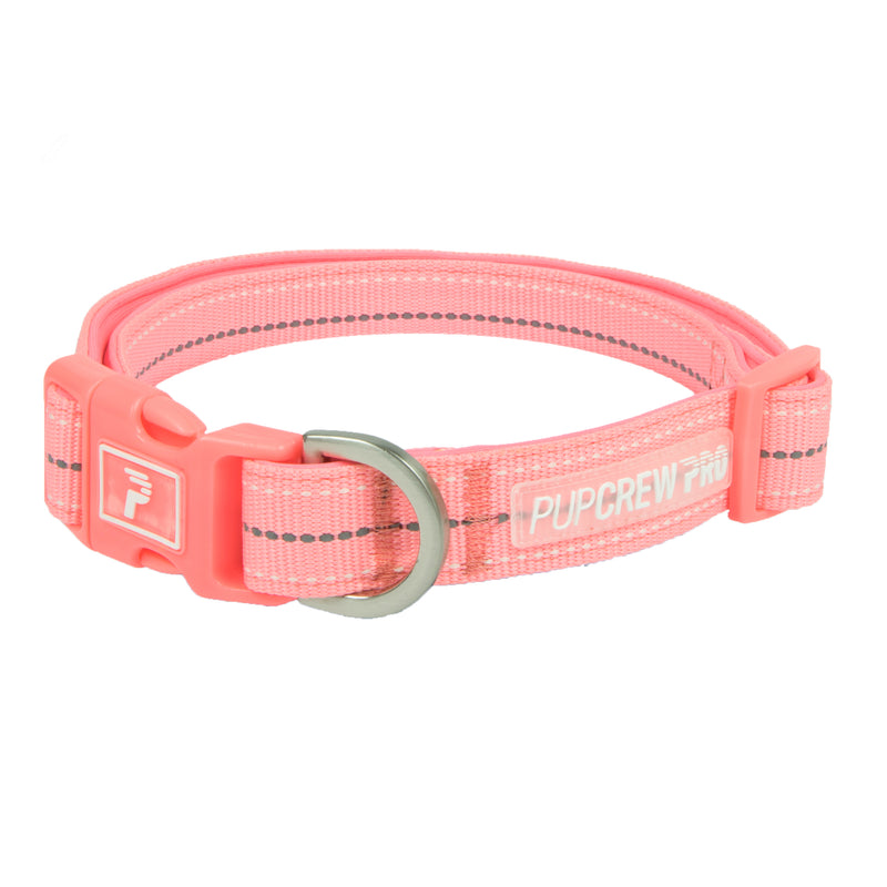 Picture of Pathfinder Collar in Color Bright Coral by Pup Crew Pro for Mission Pets, from Collar