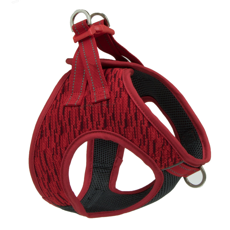Picture of Flex Knit™ Vest Harness in Color Rapid Red by Pup Crew Pro for Mission Pets, from Harness