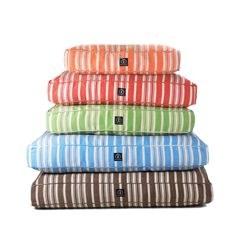 Classic Stripe Rectangle Dog Bed Cover
