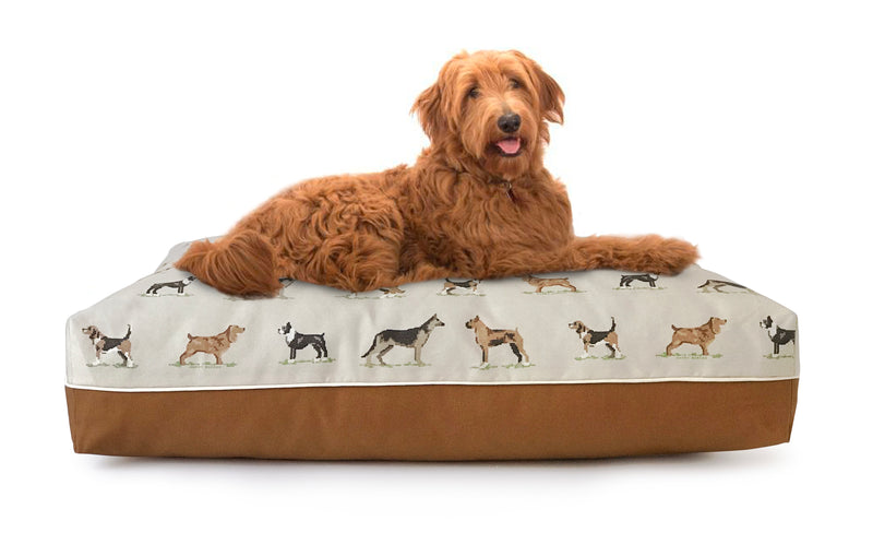 Cross Stitch Rectangle Dog Bed