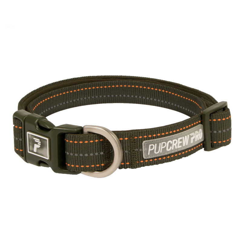 Picture of Pathfinder Collar in Color Olive Shade by Pup Crew Pro for Mission Pets, from Collar