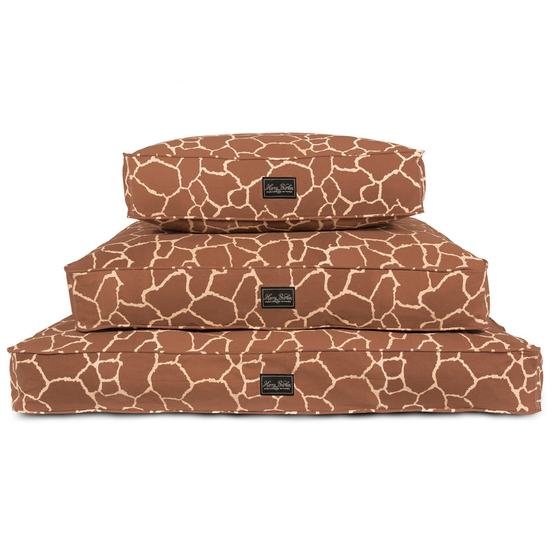 Giraffe Cotton Canvas Dog Bed Cover