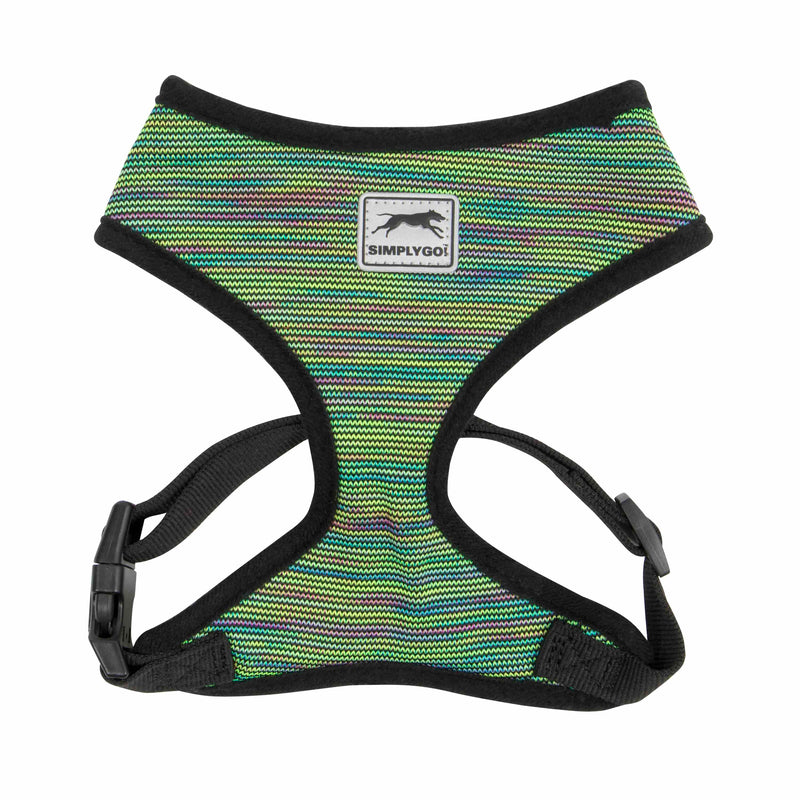 Picture of SimplyGo Adjustable T-Strap Active Knit Harness in Color Rainbow Marble by SimplyGo for Mission Pets, from Harness