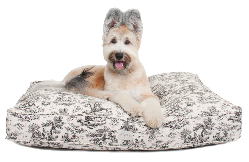 Toile Rectangle Dog Bed