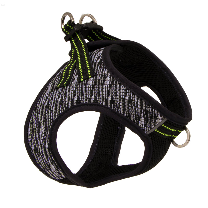 Picture of Flex Knit™ Vest Harness in Color Storm Black by Pup Crew Pro for Mission Pets, from Harness