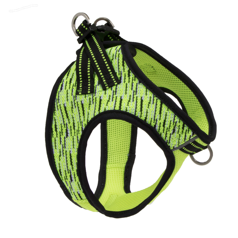 Picture of Flex Knit™ Vest Harness in Color Yellow Flash by Pup Crew Pro for Mission Pets, from Harness