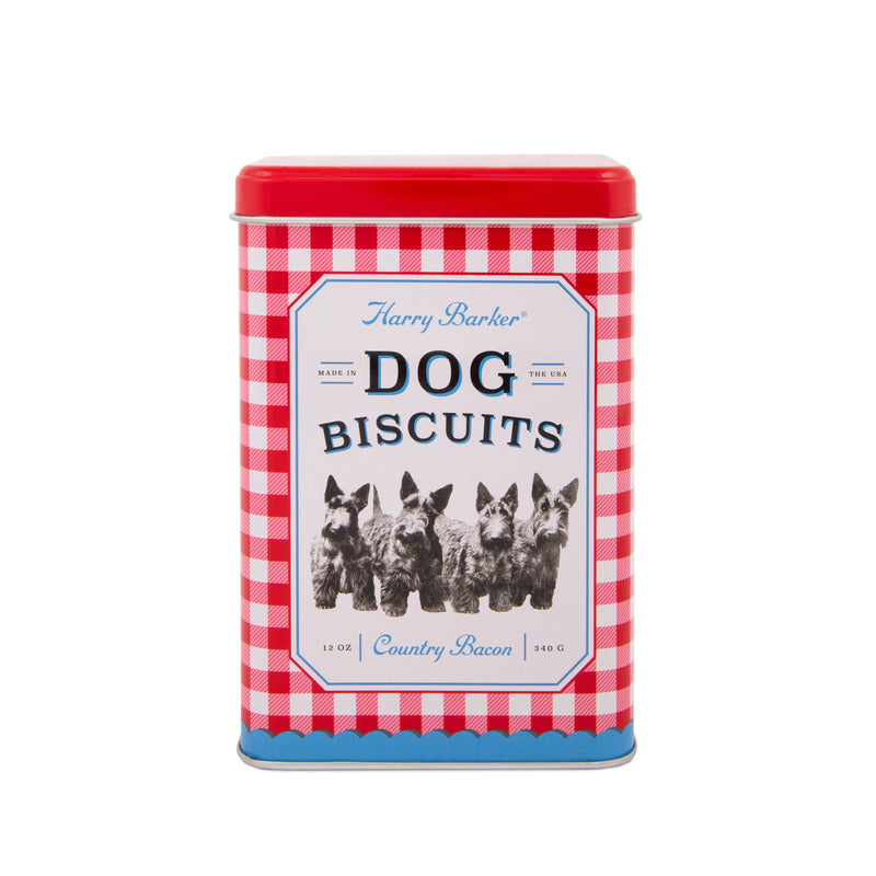 Gingham Dog Biscuit Tin