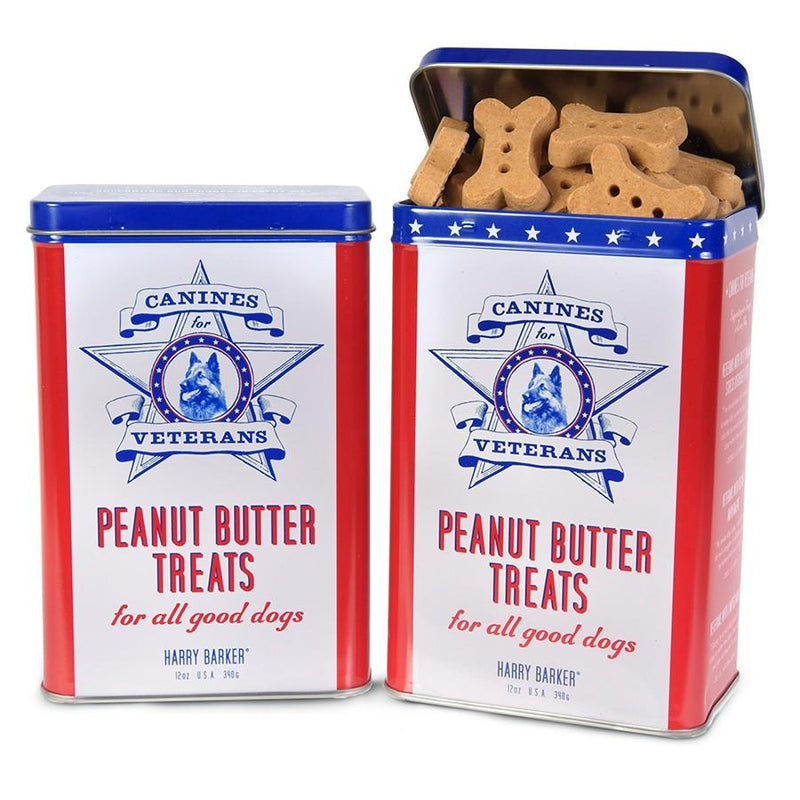 Canines for Veterans Dog Treat Tin