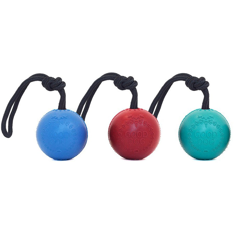 Rubber Good Dog Ball with Rope