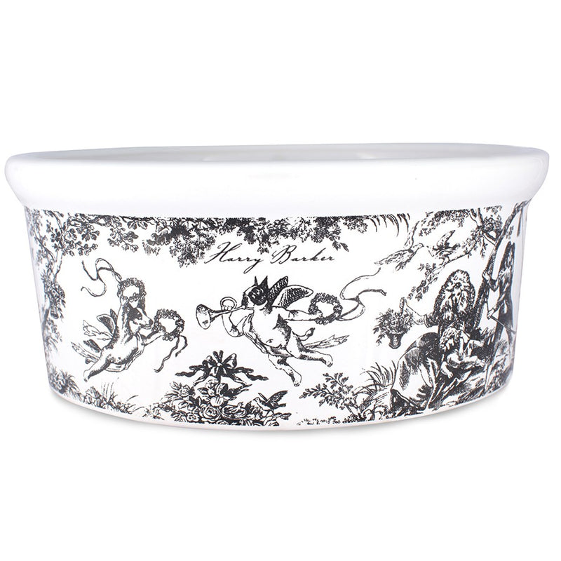 Toile Dog Bowl
