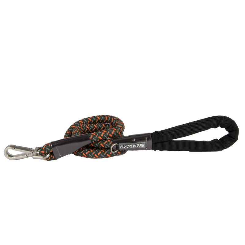 Picture of Nightrunner Leash in Color Olive Shade by Pup Crew Pro for Mission Pets, from Leash