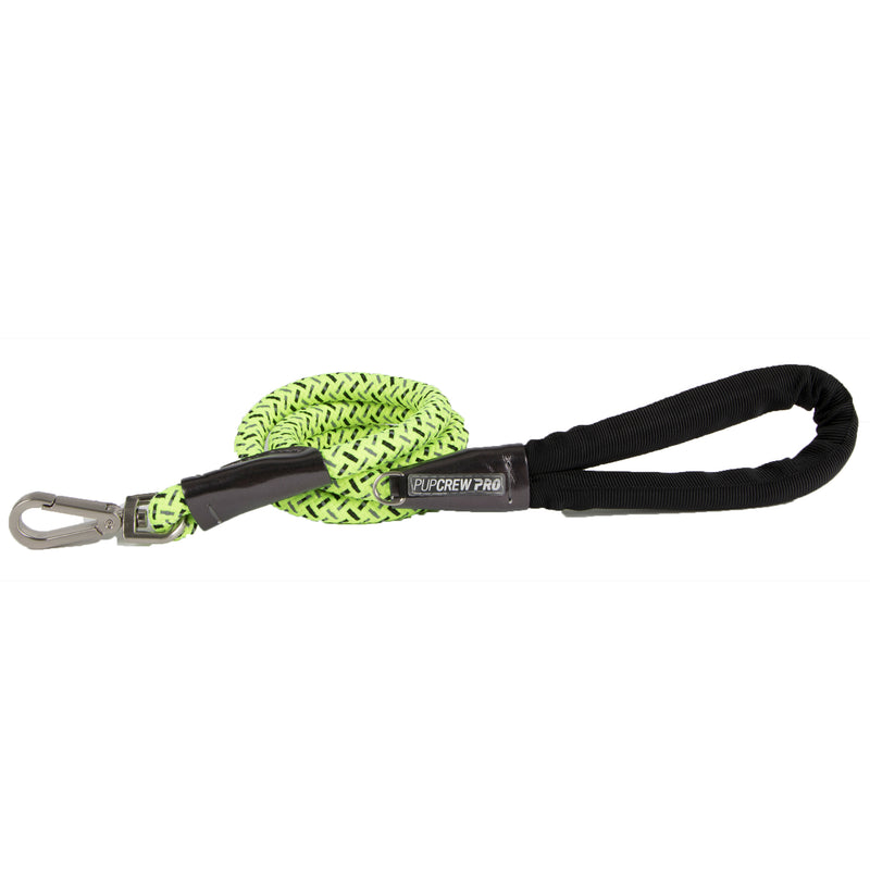 Picture of Nightrunner Leash in Color Yellow Flash by Pup Crew Pro for Mission Pets, from Leash